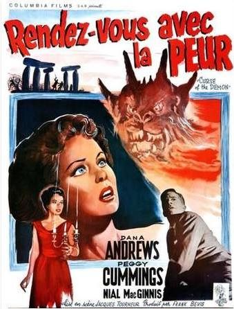 RENDEZ-VOUS AVEC LA PEUR   NIGHT OF THE DEMON / CURSE OF THE DEMON   1957